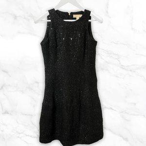 Michael Kors Evening Black Sequin Dress - Size 6